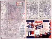 1937 road map, Missouri